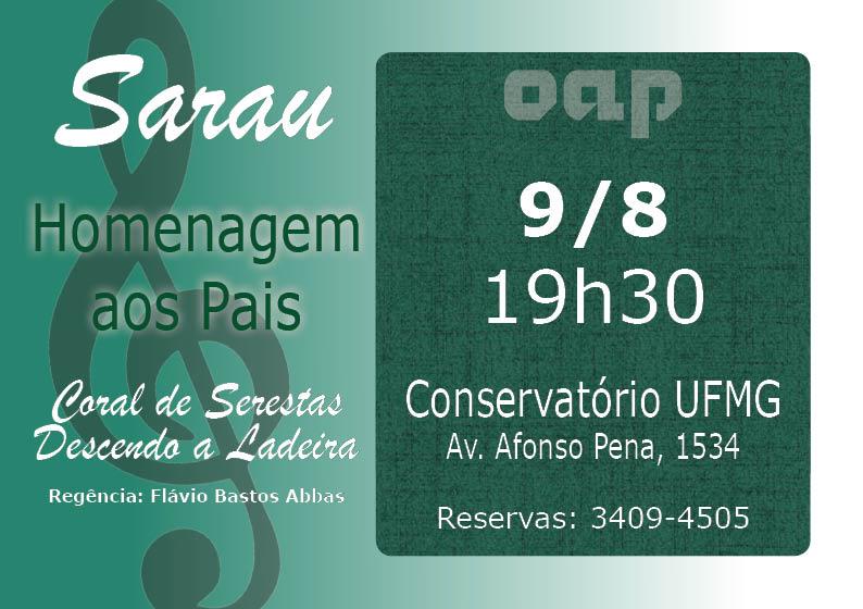 19 jul - Sarau Pais